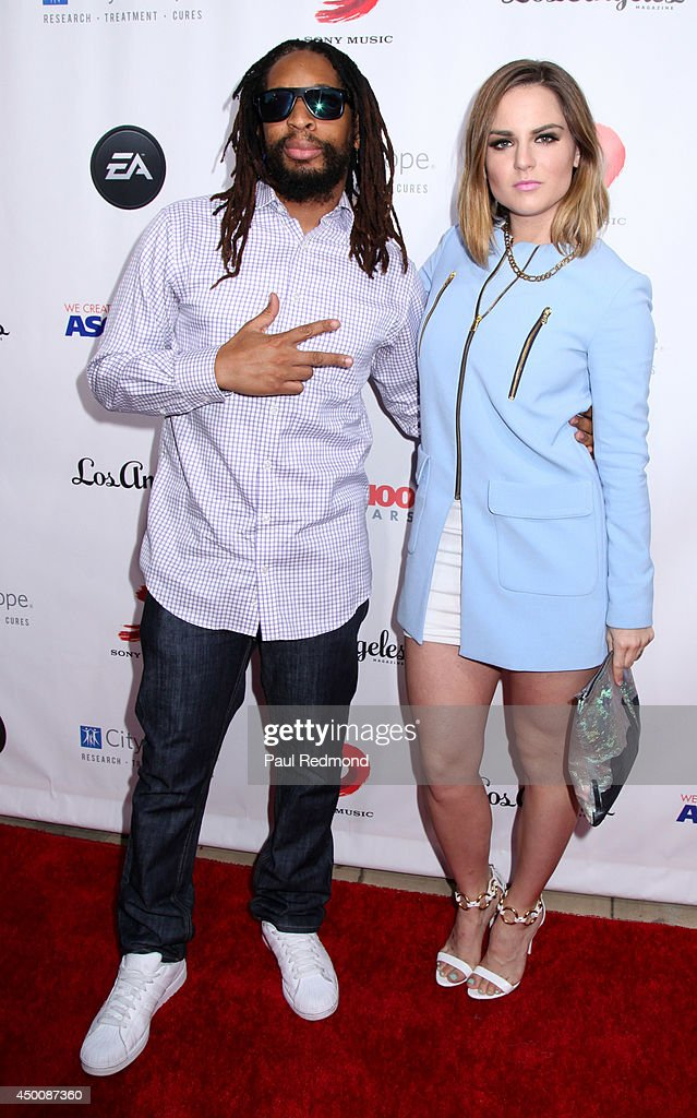 Rapper Lil Jon and singer/actress JoJo arriving at Songs Of Hope X 10th Anniversary Event Benefiting City Of Hope at House of Fair on June 4, 2014 in Brentwood, California.