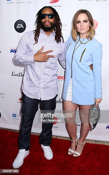 Rapper Lil Jon and singer/actress JoJo arriving at Songs Of Hope X 10th Anniversary Event Benefiting City Of Hope at House of Fair on June 4, 2014 in...