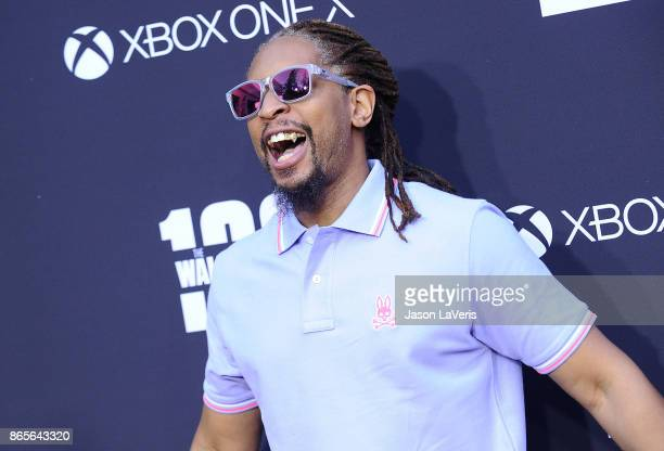 Rapper Lil Jon attends the 100th episode celebration off The Walking Dead at The Greek Theatre on October 22 2017 in Los Angeles California