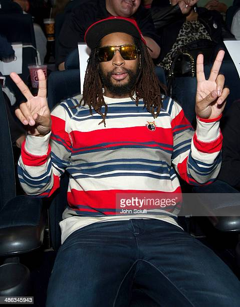 Rapper Lil Jon attends the screening of Relativity Media's Brick Mansions at ArcLight Hollywood on April 23 2014 in Hollywood California