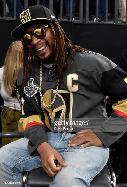 Rapper Lil Jon is seen in attendance during Game Six of the Western Conference First Round between the Vegas Golden Knights and San Jose Sharks...