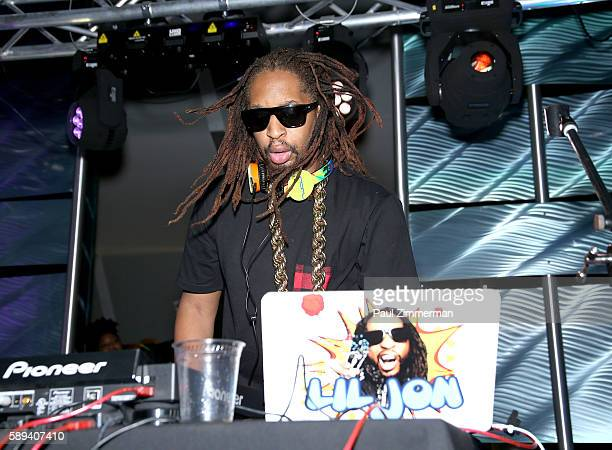 Rapper Lil Jon performs as a DJ at Mount Airy Casino Resort's Get Wet on August 13 2016 in Mount Pocono Pennsylvania
