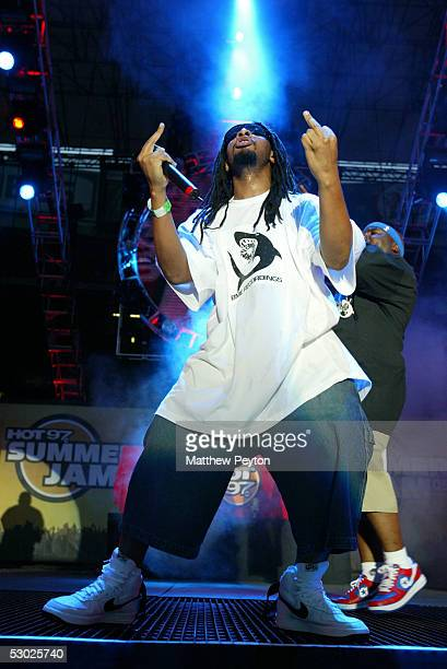 Rapper Lil' Jon performs at the Hot 97 Summer Jam 2005 Concert June 5 2005 at Giant Stadium in East Rutherford New Jersey