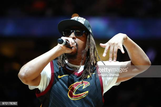 Rapper Lil' Jon performs during halftime of Game Four of the 2018 NBA Finals between the Cleveland Cavaliers and the Golden State Warriors at Quicken...