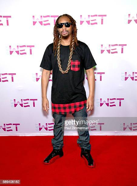 Rapper Lil Jon poses before performing as DJ at Mount Airy Casino Resort's Get Wet on August 13 2016 in Mount Pocono Pennsylvania