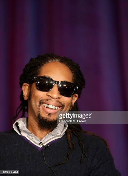 "Rapper Lil Jon speaks onstage at the ""All Star Celebrity Apprentice"" breakfast session during the NBCUniversal portion of the 2013 Winter TCA Tour-..."