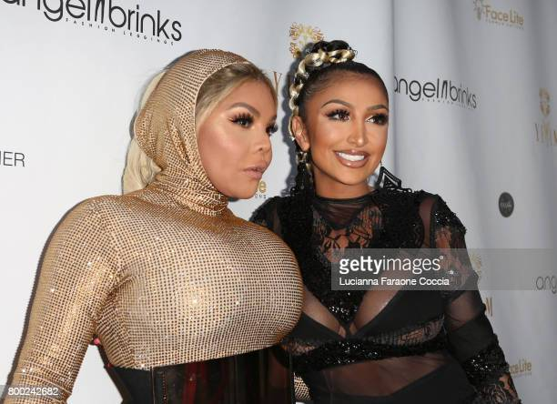 Rapper Lil' Kim and Angel Brinks attend Yekim X Brinks, a day party and fashion experience at Penthouse Nightclub & Dayclub on June 23, 2017 in West...