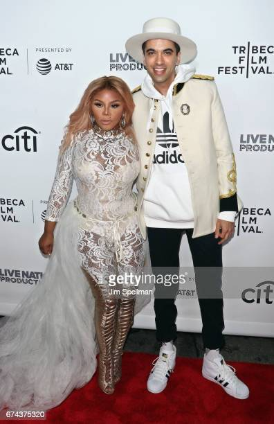 Rapper Lil' Kim and DJ Cassidy attend the world premiere of 'Can't Stop Won't Stop A Bad Boy Story' cosupported by Deleon Tequila during the 2017...