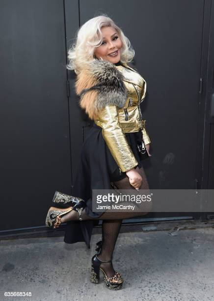 Rapper Lil Kim attends the Marc Jacobs Fall 2017 Show at Park Avenue Armory on February 16, 2017 in New York City.
