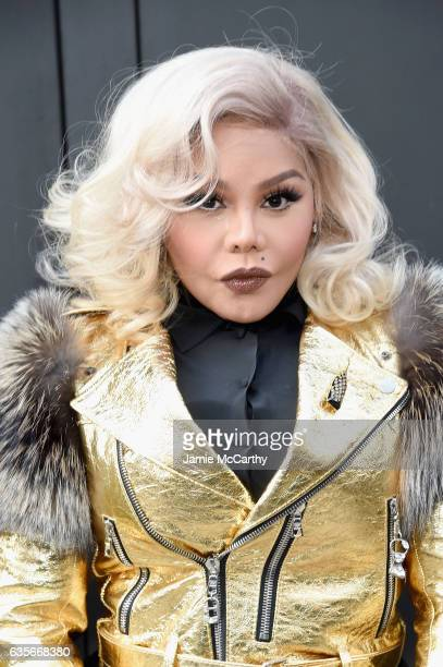 Rapper Lil Kim attends the Marc Jacobs Fall 2017 Show at Park Avenue Armory on February 16 2017 in New York City