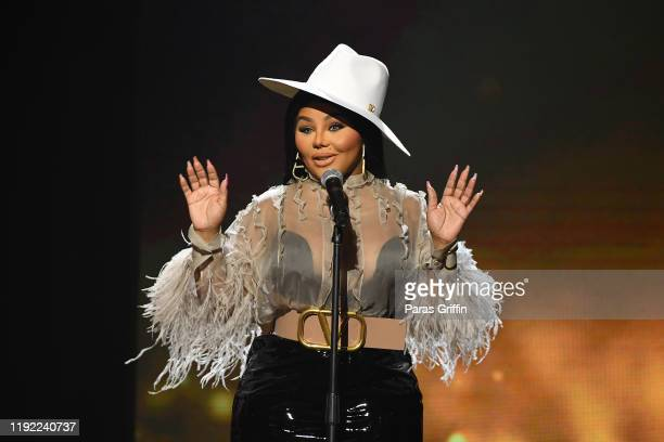 Rapper Lil Kim speaks onstage during 2019 Urban One Honors at MGM National Harbor on December 05, 2019 in Oxon Hill, Maryland.