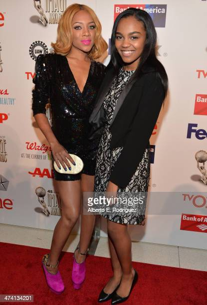 Rapper Lil' Mama and actress China Anne McClain attend the 45th NAACP Awards Non-Televised Awards Ceremony at the Pasadena Civic Auditorium on...