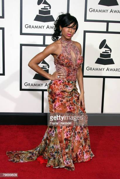 Rapper Lil' Mama arrives at the 50th annual Grammy awards held at the Staples Center on February 10 2008 in Los Angeles California