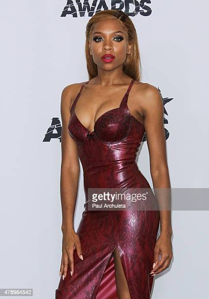 Rapper Lil Mama attends the 2015 BET Awards press room on June 28 2015 in Los Angeles California