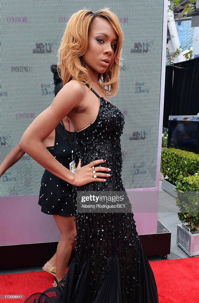 Rapper Lil' Mama attends the P&G Red Carpet Style Stage at the 2013 BET Awards at Nokia Theatre L.A. Live on June 30, 2013 in Los Angeles, California.