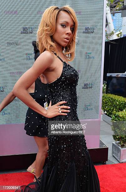 Rapper Lil' Mama attends the PG Red Carpet Style Stage at the 2013 BET Awards at Nokia Theatre LA Live on June 30 2013 in Los Angeles California