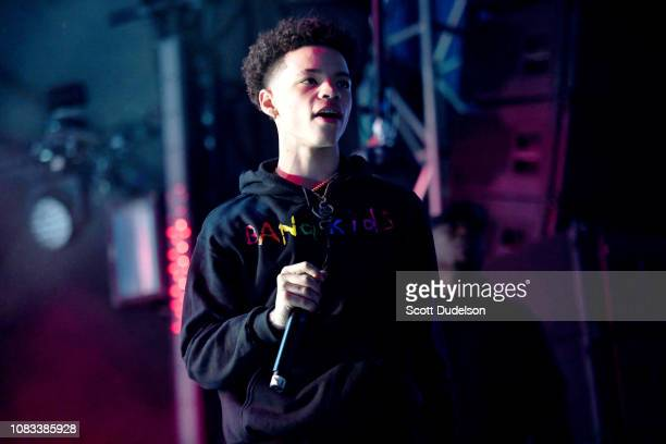 Rapper Lil Mosey performs onstage during day 2 of Rolling Loud Festival at Banc of California Stadium on December 15 2018 in Los Angeles California