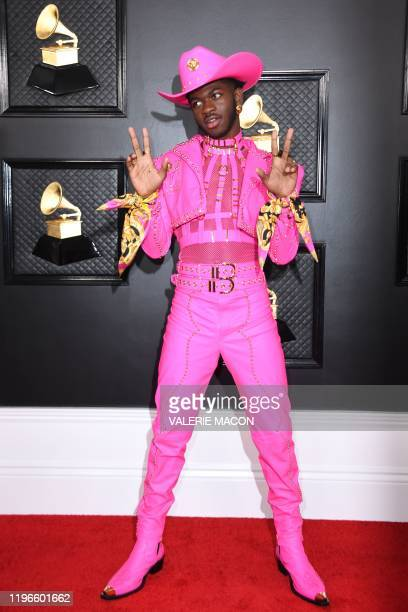 US rapper Lil Nas X arrives for the 62nd Annual Grammy Awards on January 26 in Los Angeles
