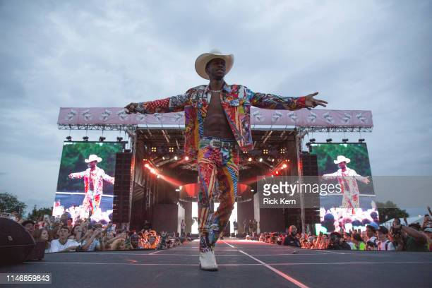 Rapper Lil Nas X performs onstage during JMBLYA at Fair Park on May 03 2019 in Dallas Texas