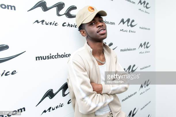 Rapper Lil Nas X Visits Music Choice on May 01 2019 in New York City