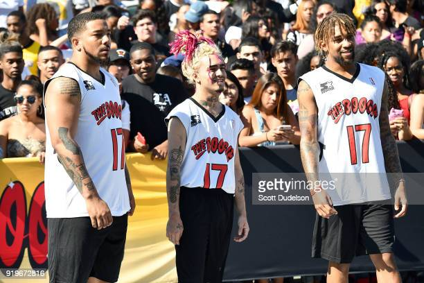 Rapper Lil Pump attends YG and Friend's Daytime Boogie Basketball Tournament at The Shrine Auditorium on February 17 2018 in Los Angeles California