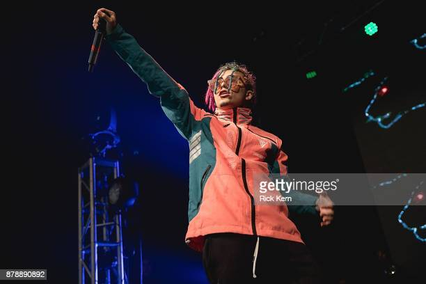 Rapper Lil Pump performs in concert at Emo's on November 24 2017 in Austin Texas