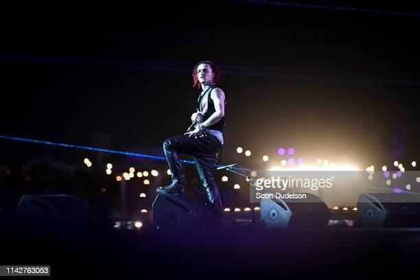 Rapper Lil Pump performs onstage during Weekend 1 Day 3 of the Coachella Valley Music and Arts Festival on April 14 2019 in Indio California