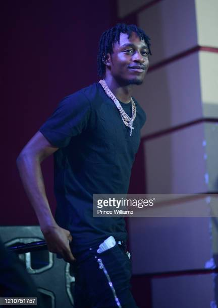 Rapper Lil TJay performs in Concert at Buckhead Theatre on March 5 2020 in Atlanta Georgia