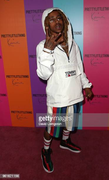 Rapper Lil Twist attends the PrettyLittleThing x Karl Kani event at Nightingale Plaza on May 22 2018 in Los Angeles California