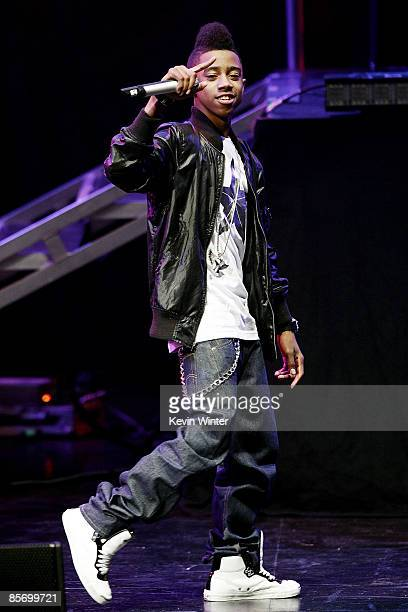 Rapper Lil Twist performs onstage during the I Am Music Tour with Lil Wayne featuring TPain at the Gibson Amphitheater on March 29 2009 in Universal...