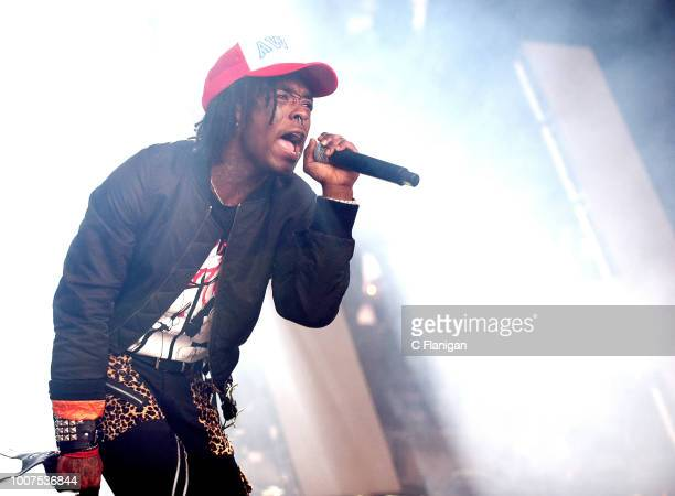 Rapper Lil Uzi Vert performs during the 'The Beautiful Damned' tour at Shoreline Amphitheatre on July 29 2018 in Mountain View California