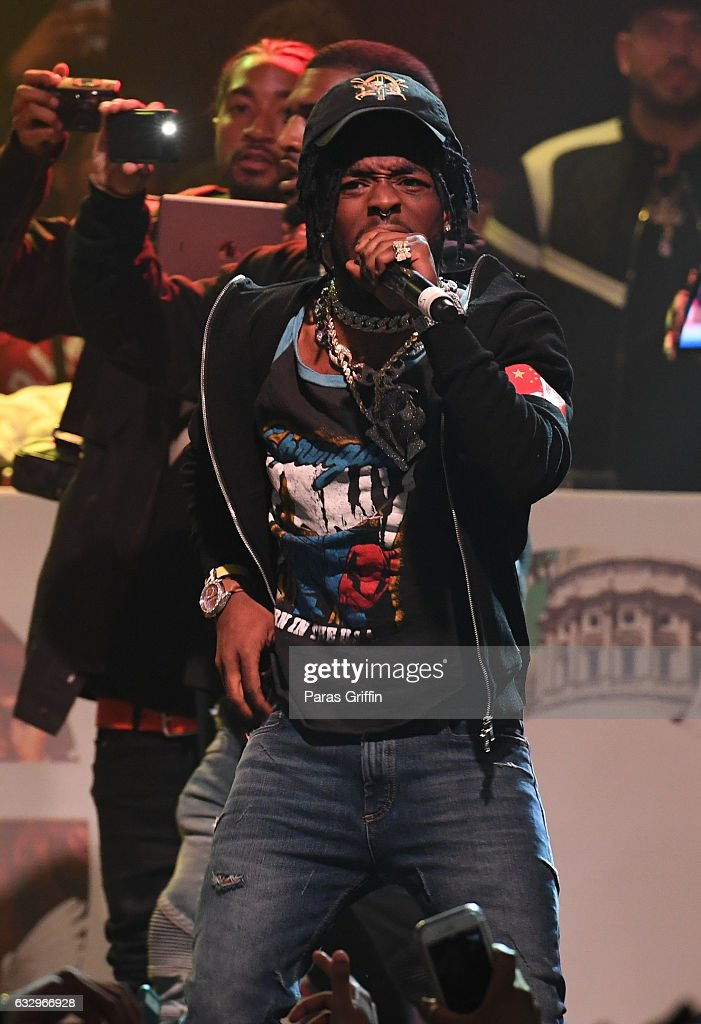 Rapper Lil Uzi Vert performs onstage at Puma & Hot 107.9 presents Migos 'Culture' Album Release Show at Center Stage on January 28, 2017 in Atlanta, Georgia.