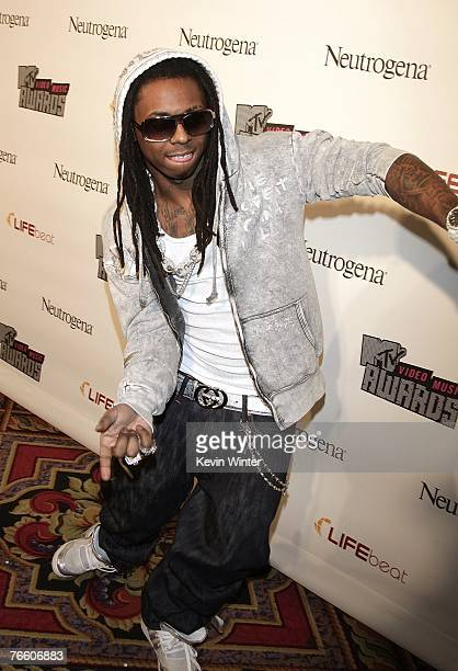 Rapper Lil Wayne arrives at 'VMA Fandemonium A Concert To Benefit Lifebeat' on September 8 2007 at The House of Blues at The Mandalay Bay Resort...