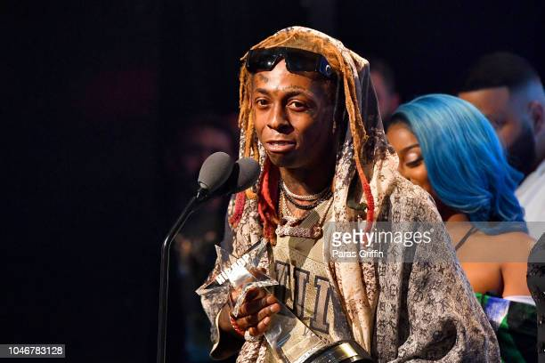 Rapper Lil Wayne onstage during the BET Hip Hop Awards 2018 at Fillmore Miami Beach on October 6 2018 in Miami Beach Florida
