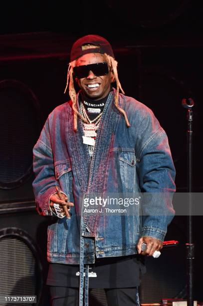 Rapper Lil Wayne performs onstage at DTE Energy Music Theater on September 10, 2019 in Clarkston, Michigan.