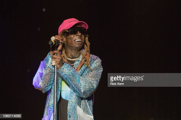 Rapper Lil Wayne performs onstage during Travis Scott's inaugural Astroworld Festival at NRG Park on November 17 2018 in Houston Texas