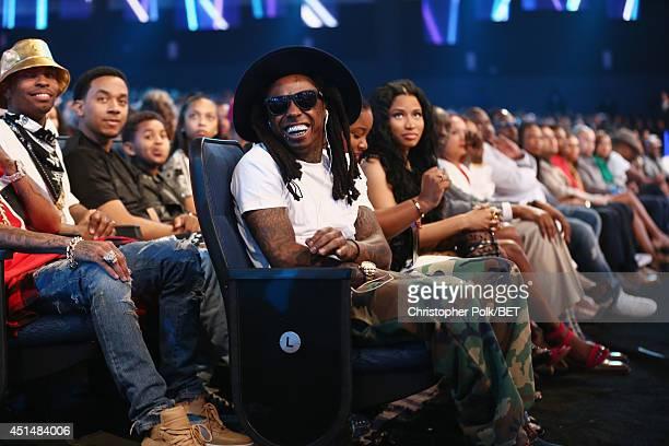 Rapper Lil Wayne Reginae Carter and singer Nicki Minaj attend the BET AWARDS '14 at Nokia Theatre LA LIVE on June 29 2014 in Los Angeles California
