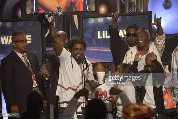 Rapper Lil Wayne winner of the Hip Hop MVP of the Year Award during the BET Hip Hop Awards 2007 at the Atlanta Civic Center on October 13 2007 in...