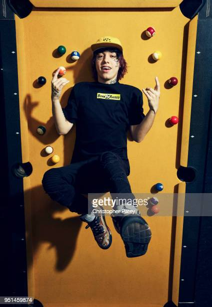 Rapper Lil Xan aka Diego Leanos is photographed for Billboard magazine on January 10 2018 in Los Angeles California