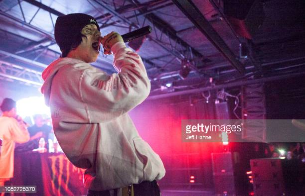 Rapper Lil Xan performs at The Underground on October 21 2018 in Charlotte North Carolina