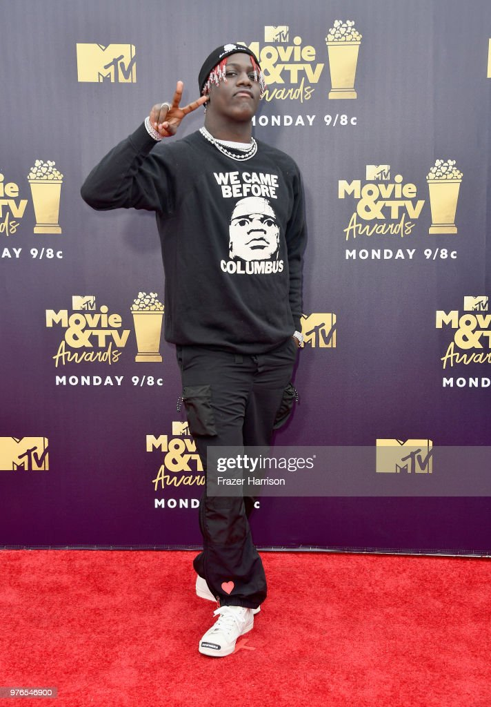 Rapper Lil Yachty attends the 2018 MTV Movie And TV Awards at Barker Hangar on June 16, 2018 in Santa Monica, California.