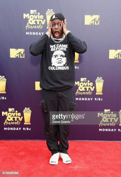 Rapper Lil Yachty attends the 2018 MTV Movie And TV Awards at Barker Hangar on June 16 2018 in Santa Monica California