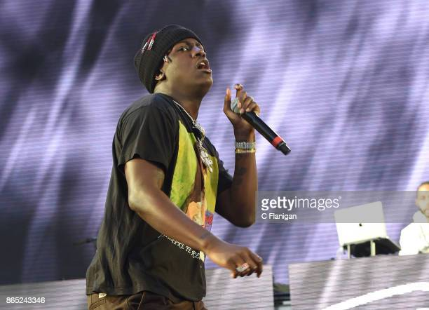 Rapper Lil Yachty performs during the Rolling Loud Festival at Shoreline Amphitheatre on October 22 2017 in Mountain View California