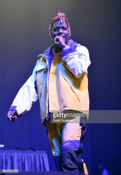 Rapper Lil Yachty performs onstage during day three of MUSINK at OC Fair Events Center on March 18 2018 in Costa Mesa California