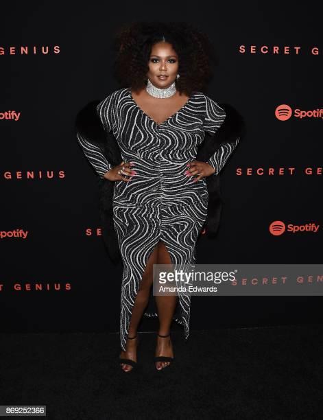 Rapper Lizzo arrives at Spotify's Inaugural Secret Genius Awards on November 1 2017 in Los Angeles California