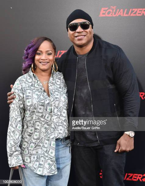 Rapper LL Cool J and wife Simone Smith attend the premiere of Columbia Picture's 'The Equalizer 2' at TCL Chinese Theatre on July 17 2018 in...
