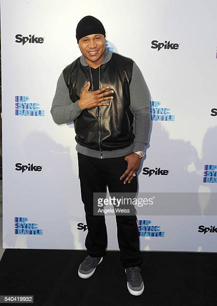 Rapper LL Cool J arrives at the FYC Event Spike's 'Lip Sync Battle' at Saban Media Center on June 14 2016 in North Hollywood California