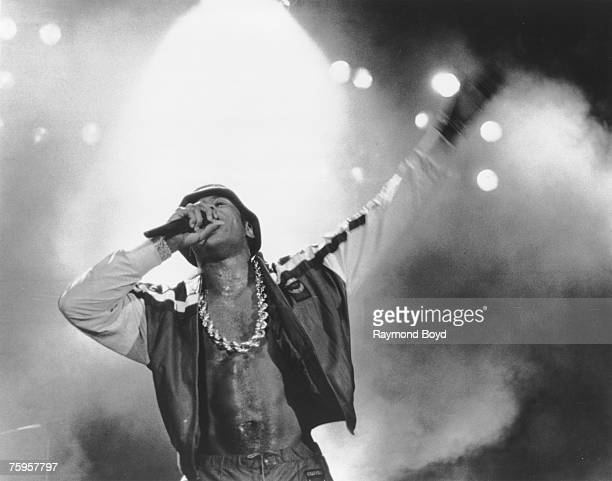 Rapper LL Cool J performs onstage on June 13 1988 in Chicago Illinois