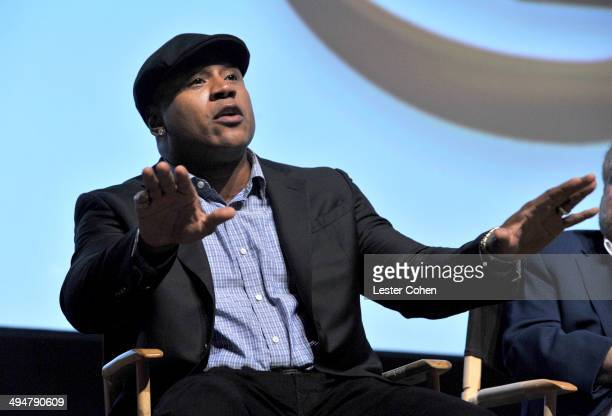 Rapper LL Cool J speaks onstage during A Conversation About the 56th GRAMMYS and Beatles Show at Leonard H Goldenson Theatre on May 30 2014 in North...