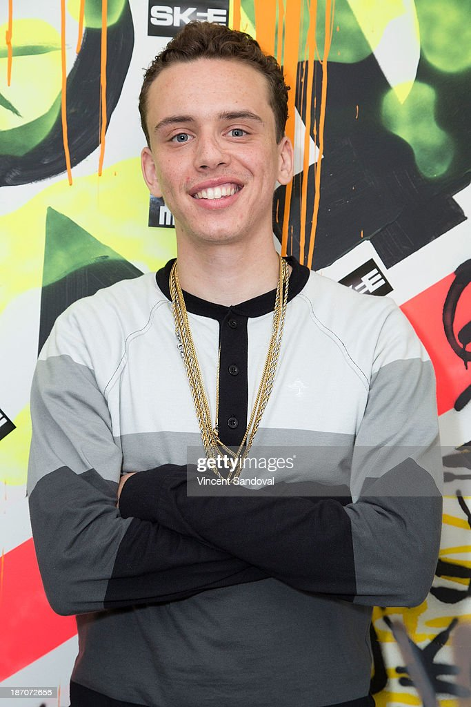 rapper logic attends skee live at the conga room at l a live on